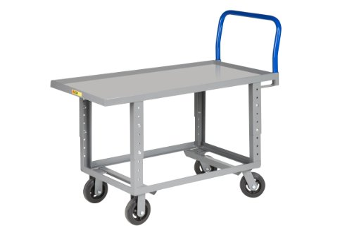Little Giant RNL-3060-6MR-AH 12-Gauge Steel Ergonomic Lip Edge Adjustable Work-Height Platform Truck, 2000 lbs Capacity, 60'' Length x 30'' Width by Little Giant (Image #1)