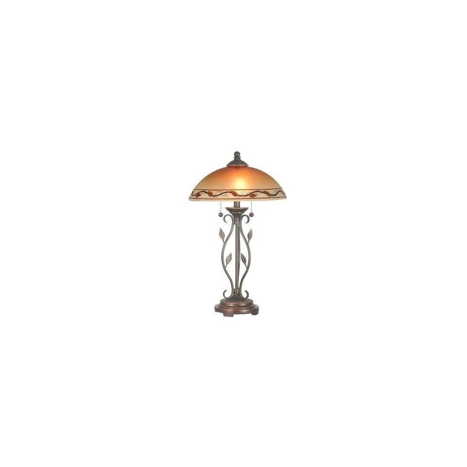 Dale Tiffany Garden Leaf Table Lamp in Antique Golden Sand Finish