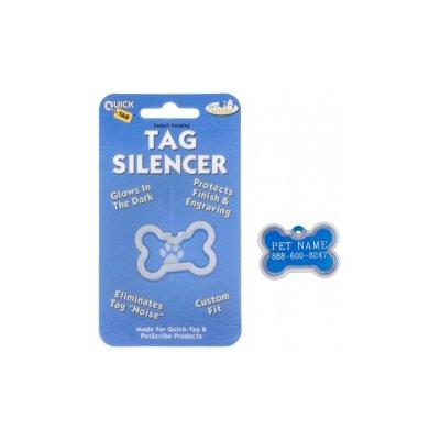 Quick Tags Pet Tag Silencer Bone, Small