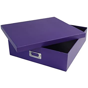 Amazon Purple Heavy Duty Scrapbook Box With Shoebox Style Lid