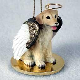 Yellow Labrador Retriever Tiny One Dog Angel Christmas Ornament