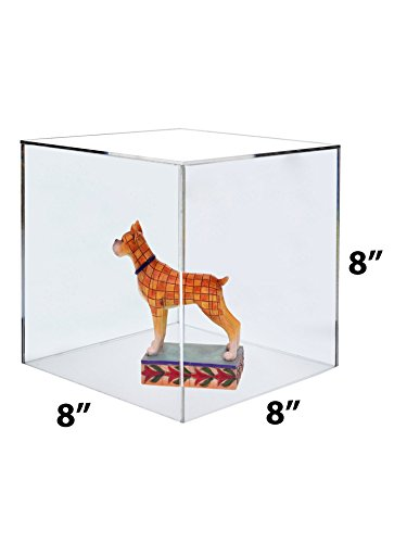 Marketing Holders Lot of 2 Acrylic 5 Sided Display Cube 8''x8''x8'' Riser by Marketing Holders