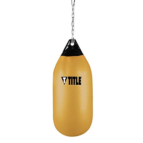 (Title Boxing Wave H2O Cylindrical Heavy Bag, Gold, 95 lbs)