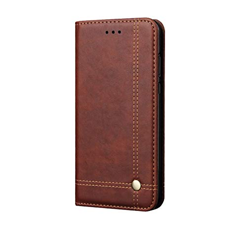 Leather Wallet Case for Apple iPhone XR 6.1 inches,TACOO Kickstand Slim Fit Fold Card Money Slot Protective Phone Cover Men Women Compatible with iPhone XR 2018-Brown
