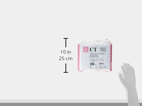INDAS, Compresa Tocológica Algodón Impermeable, 20 unidades: Amazon.es