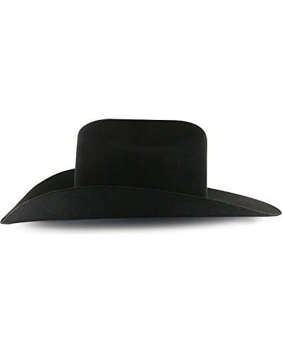 Rodeo King Men's Low 7X Felt Cowboy Hat Black 7 3/8 by RODEO KING (Image #5)