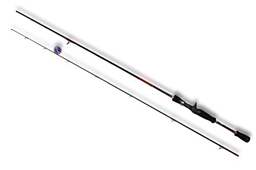 Seaquest 7' Casting Fishing Rod with FUJI reel seat and FUJI Guides And 30 ton Carbon 2-piece