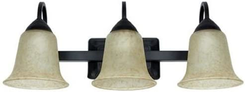 Feit Electric 73961 LED 3 Light LED Oil Rubbed Bronze with Antique Scavo Glass