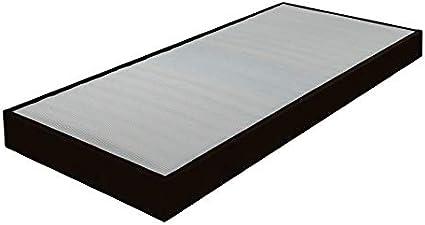 DREAMEA somier 90 x 190 Omega sintética Negro 16 láminas ...