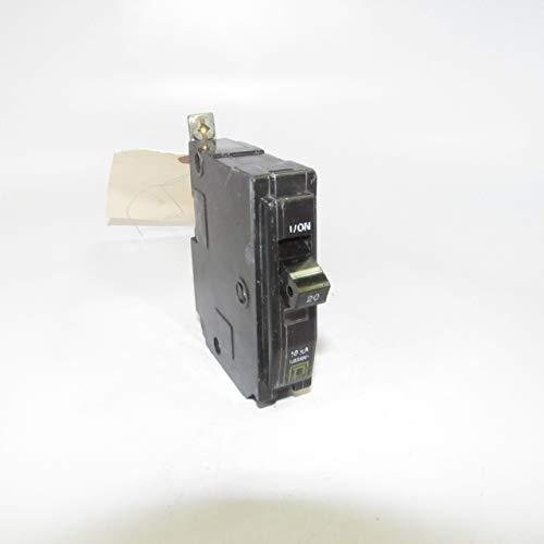 Square D QOB120 Bolt-On QOB Type Circuit Breaker, 120/240-Volt, 1-Pole, 20-Amp