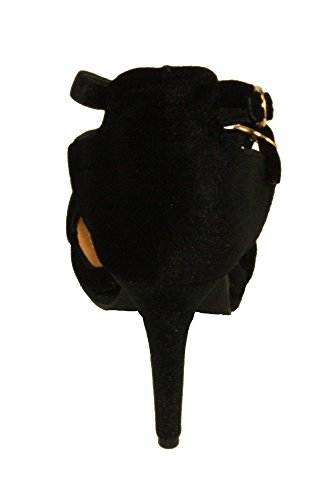 Betani Womens Penelope-14 Velvet Adjustable Ankle Strap Mary-jane style Platform Dress Pumps Black eTOOEp3x