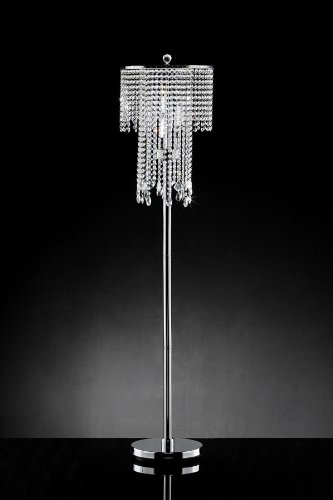 Elegant Draped Crystal Floor Lamp