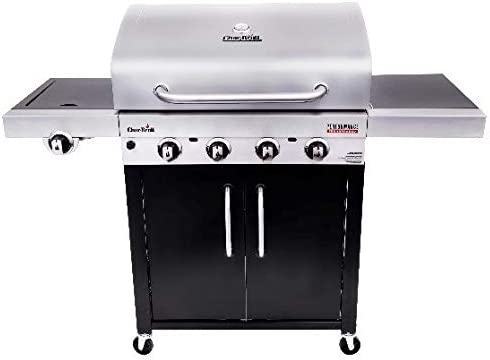 Char-Broil 463280419 Performance TRU-Infrared 4-Burner Cabinet Style Gas Grill, Stainless Black