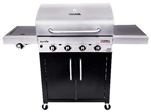 Char-Broil 463280419 Performance TRU-Infrared 4-Burner Cabinet Style Gas Grill, Stainless/Black Char Broil