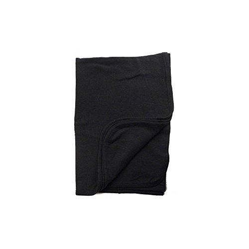 Bambini Baby Boys Girls Unisex 30'' x 40'' Receiving Blanket, Black, 30'' x 40'' by bambini (Image #1)