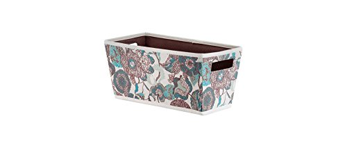 Fabric Quarter Bin - Threshold (Gray and Pink Floral)