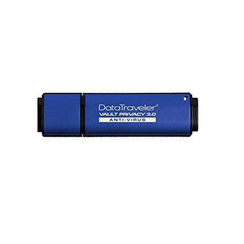 - Kingston DTVP30AV/4GB DataTraveler Vault Privacy 3.0 Anti-Virus - 4 GB - Password Protection, Encryption Support, Water Proof