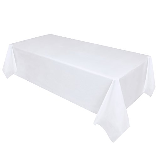 8' Paper Pack (Premium Disposable Plastic Tablecloth – 12 Pack - 54