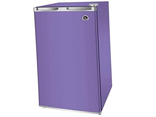 Compact Mini Refrigerator with Freezer 3.2 Cu.ft in Purple. Perfect for Home, Office, Dorm, or Gameroom