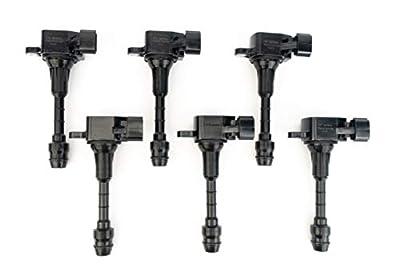 Ignition Coil Pack Set of 6 - Fits Infiniti FX35, G35, M35, Nissan 350Z - Replaces 22448-AL61C, UF401, IGC0007, 6734025, 22448AL615 - Year Models 2003, 2004, 2005, 2006, 2007, 2008-3.5L V6 Coils