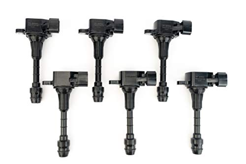 Ignition Coil Pack Set of 6 - Fits Infiniti FX35, G35, M35, Nissan 350Z - Replaces 22448-AL61C, UF401, IGC0007, 6734025, 22448AL615 - Year Models 2003, 2004, 2005, 2006, 2007, 2008-3.5L -