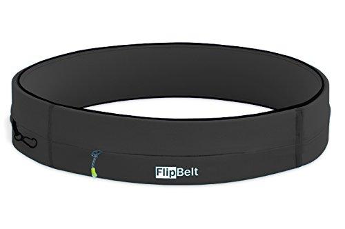 (FlipBelt Running & Fitness Workout Belt, Carbon,)