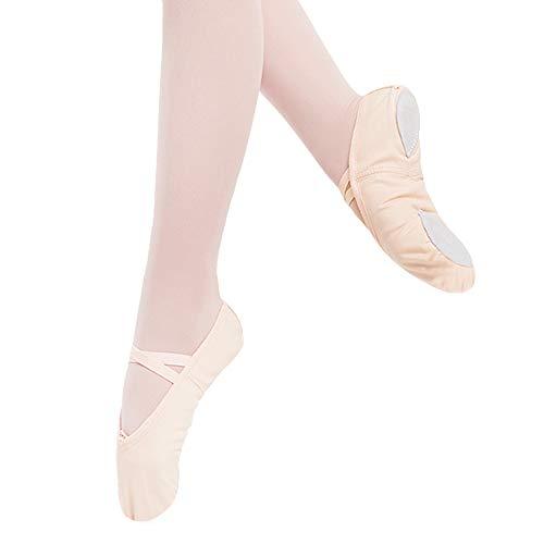 Ballet Shoes High-Count Cotton Canvas Ballet Slipper for Girls/Toddler/Little Kid/Big Kid/Women(8MT, Ballet Pink) ()