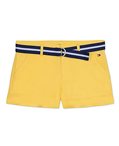 Tommy Hilfiger Big Girls' Twill Shorts, Lightning, 10