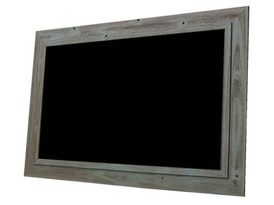 Chalkboard by billyBoards - Rough sawn frame Blue/Green barnwood 24x36 by billyBoards