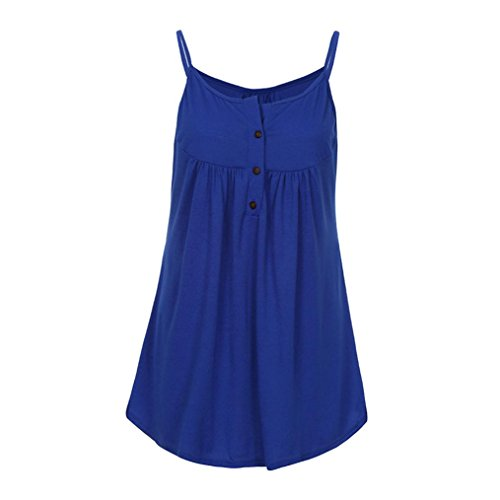 Volants Top Gilet Casual Bleu Femmes sans Mode Manches Woman Tops Strappy Fathoi Mousseline A Blouse Avant Summer T Shirt 2018 PdCqpTOpw
