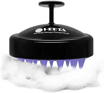 Hair Scalp Massager, Heeta Shampoo Brush with Soft Silicone Head Massager (Black)