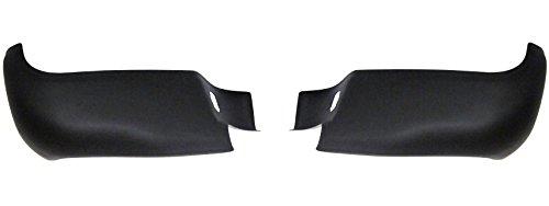 Ecoological Rear BumperShellz - Matte Black, w/o sensor holes (Bumper Cover) for 05-15 Toyota Tacoma All