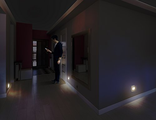 cool hallway lighting. led concepts pack of 2 plugin night lights ultra slim cooltouch design great for bedroom bathroom hallway stairways or any dark room warm cool lighting p