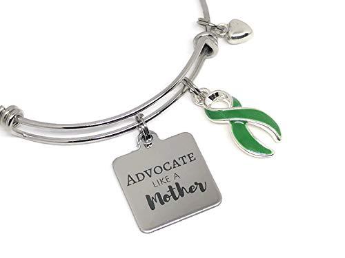 Green Awareness Ribbon Bracelet: Advocate Like a Mother