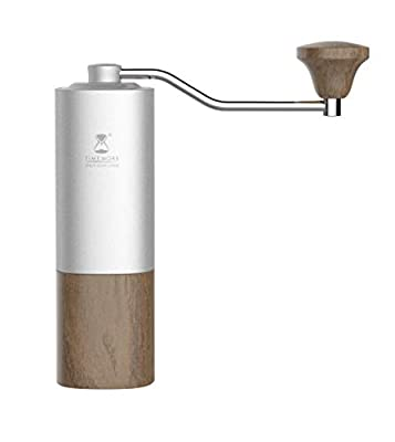 TIMEMORE Chestnut G1 Manual Coffee Grinder Upgraded Titanium Burrs Silver - ElephantNum Featured by TIMEMORE
