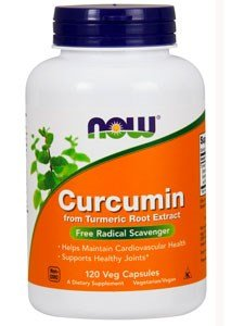 Now Foods Curcumin Turmeric Root Extractract 95%, Veg-capsules, (Root Food 120 Capsules)