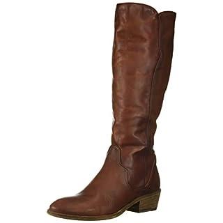 Frye Women's Carson Piping Tall Knee High Boot, Mahogany Extended, 6 Medium US