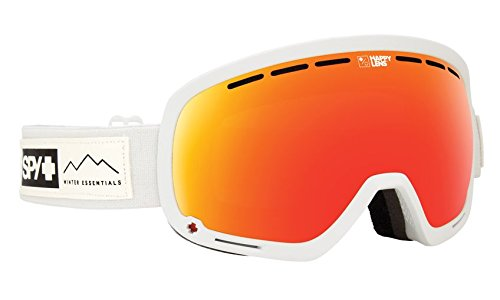 Arc Snowboard Jacket - Spy Optic Marshall Essential White Snow Goggles | Aviation Scoop Design Ski, Snowboard or Snowmobile Goggle | Two Lenses with Patented Happy Lens Tech