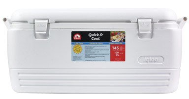 Igloo Quick And Cool 100 Cooler 100 Qt 16.75 In. H X 17.38 In. W X 35.25 In. D White - Cool 100 Quart Cooler