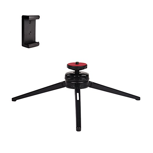 POLAM-FOTO Mini Tripod Phone Tripod with Swivel Ball Head,Desktop Tripod with Cell Phone Adapter for iphone,Smartphones, DSLR Cameras,etc by POLAM-FOTO