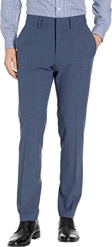 - Kenneth Cole REACTION Men's 4-Way Stretch Solid Gab Slim Fit Dress Pant, Blue Heather, 32Wx30L