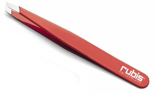 Rubis Switzerland Slanted Tip Tweezer Red product image