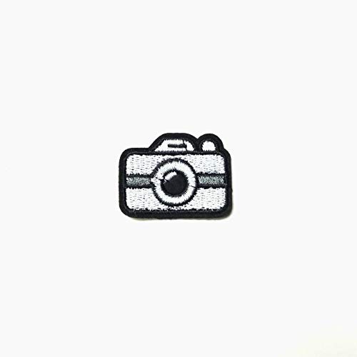 Mini Camera Patch Iron-On/Sew-On Embroidered Applique, Cute Small 35mm Retro TY-96