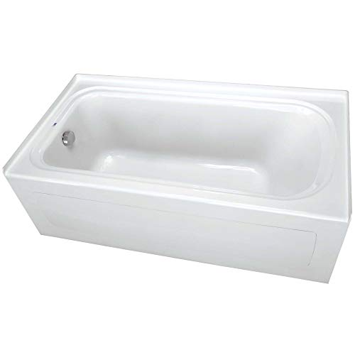 "PROFLO PFS6636LSKWH PROFLO PFS6636LSK 66"" x 36"" Alcove Soaking Bath Tub with Skirt and Left Hand Dra"