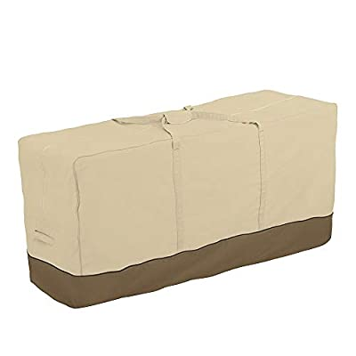Cherry Juilt Patio Cushion Storage Bag Weather Resistant Outdoor Patio Furniture Cover with Handles Protective Zippered Xmas Tree Storage Bag