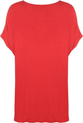 Top Slogan 44 T Grande Colori Misure donna A Cuore 54 Rot Forma Di shirt Donna 4 Wearall stampa gPzZEg