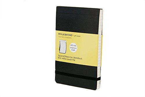 - Moleskine Reporter Notebook, Pocket, Squared, Black, Soft Cover (3.5 x 5.5)