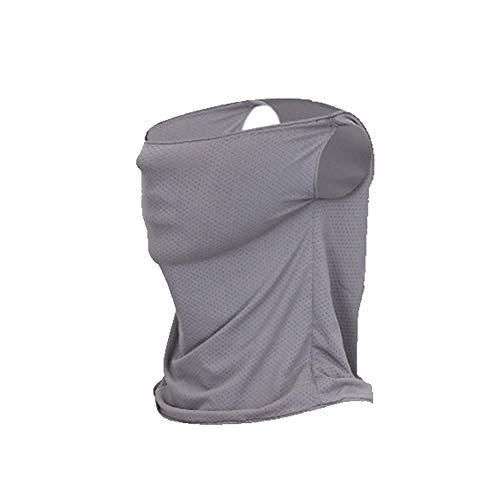 1stモール 日焼け防止帽子 グレー 紫外線 カット UV 帽子 レディース フェイスマスク 日よけフェイスカバー ST-HIYOGOL-GY