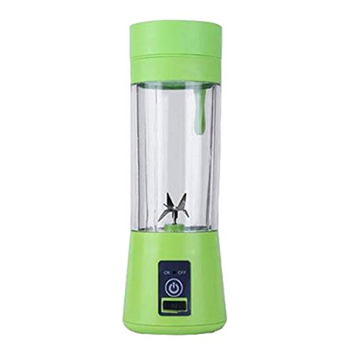 380ml Portable Juicer Electric USB Rechargeable Smoothie Blender Machine Mixer,green,Poland,6 blades