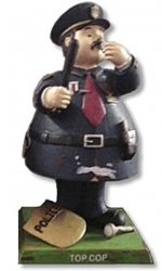Handpainted Bobble Guyz Police Officer Head Doll